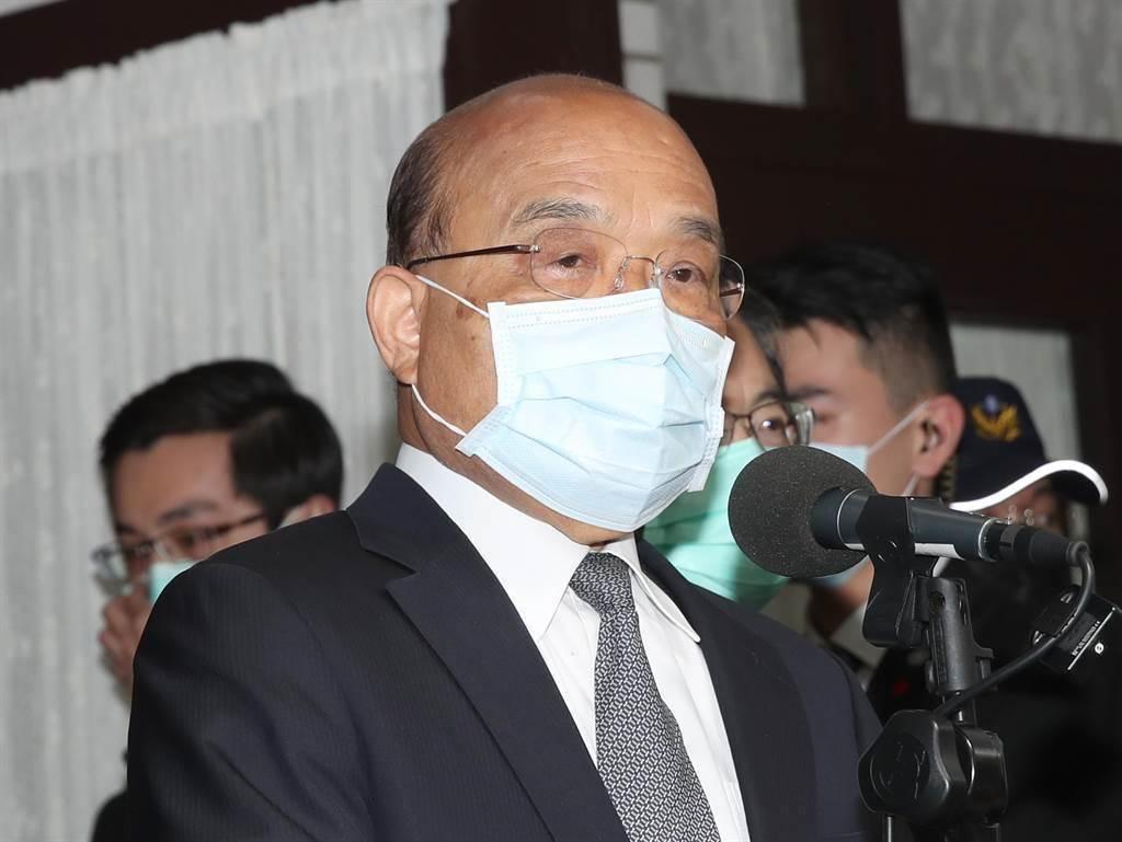 行政院長蘇貞昌今於行政院會中表示,本周會有連續三批疫苗運抵,力拚本月底前第一劑覆蓋率7成、第二劑3成的目標。(報系資料照)